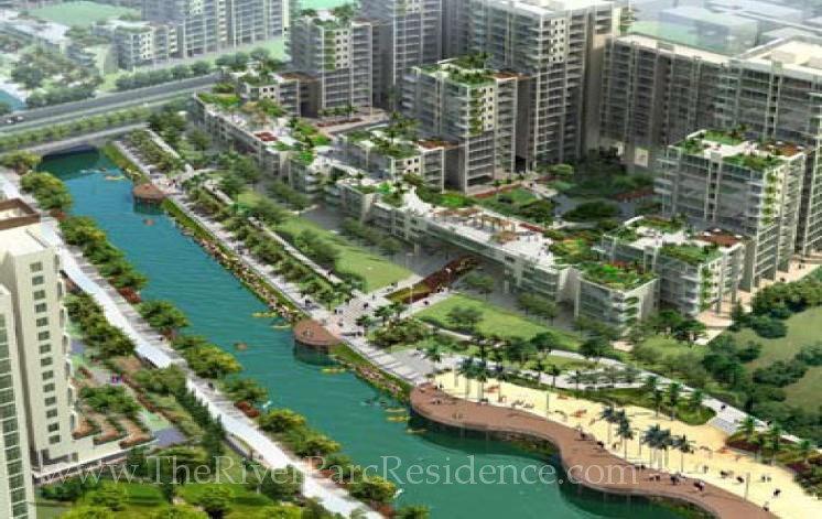 RiverParc Exec Condo   Waterfront Promenade