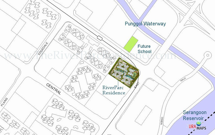 RiverParc Residence Location Map