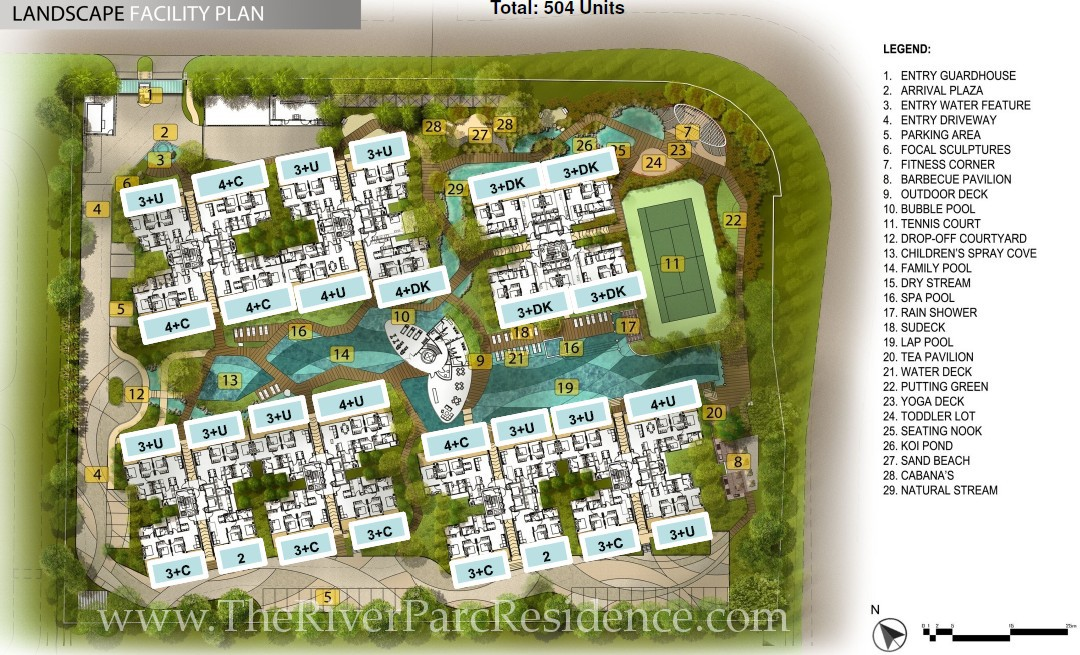 RiverParc Residence Site Layout & Facilities